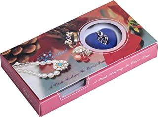 """GEM-Inside 12x22mm Silver Plated Plated Love Heart Cage Holder Necklace 17"""" Wish Kit Box Pearl in Oyster No.3"""