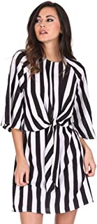 AX Paris Women's Striped Tie Waist Dress