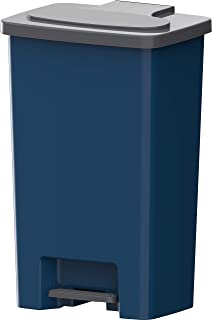 Cosmoplast Plastic Step-on Pedal Trash Waste Bin, Pearl Blue, 44 Liters, IFHHLA340PB