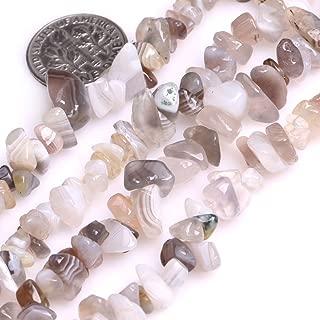 GEM-inside GEM-inside 7-8MM Gemstone Botswana Agate Gravel Beads Strands 34 Inches