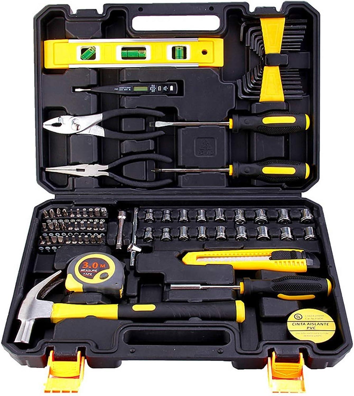 Hungrybubble 78-TLG. Haushaltskombinationswerkzeug-Set Hardware-Toolbox-Reparaturwerkzeug für Schraubendreher (Farbe   schwarz) B07QGDSP94 | Spielen Sie das Beste