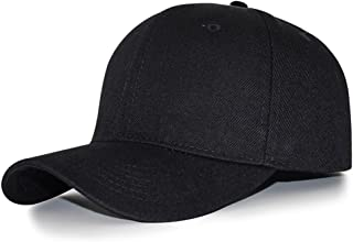 Hidream Baseball Caps Hat Hip Hop Adjustable Pure Curved Plain Good Visor Sports Outdoor Color Black