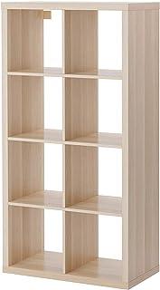 BPIL IKEA KALLAX - Estantería (77 x 147 cm), Color Blanco, Efecto Roble teñido Blanco.