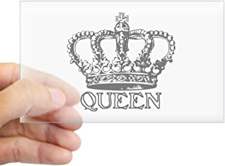 CafePress Queen Crown Rectangle Sticker Rectangle Bumper Sticker Car Decal