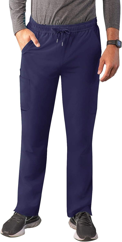 Adar Addition Scrubs for Men - Slim Leg Cargo Drawstring Scrub P