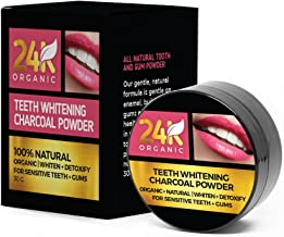 Natural Teeth Whitening Charcoal Powder -Mint Flavor- Made with Organic Coconut Activated Charcoal and Bentonite Clay Formula for Stronger Healthy White Teeth