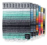 Authentic Mexican Blanket - Yoga Blanket,...