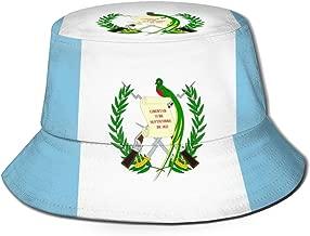 CHEERPEACETIME Fisherman Bucket Caps Guatemalan Flag Unisex Reversible Outdoor Summer Sun Hat