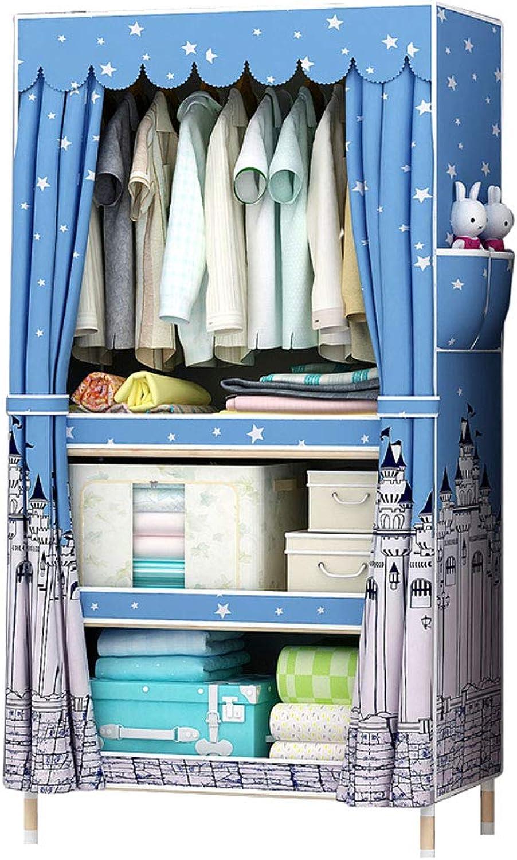 Simple wardrobe Simple wardrobe Solid Wood Wardrobe Assembly 60  45  170cm Wardrobe (color   A)