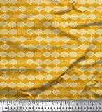 Soimoi Gold Baumwoll-Voile Stoff marokkanisch Damast Stoff