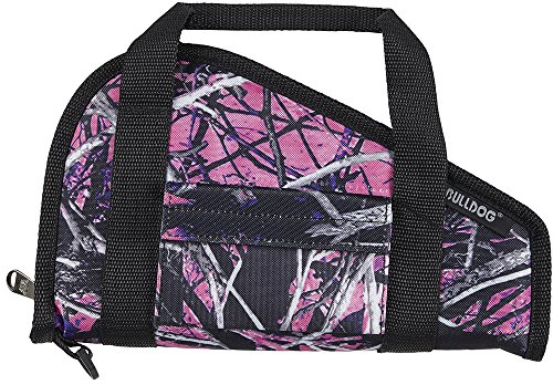 Bulldog Cases Muddy Girl Pistol Rug with Accessory Pocket, Small, Camo/Black