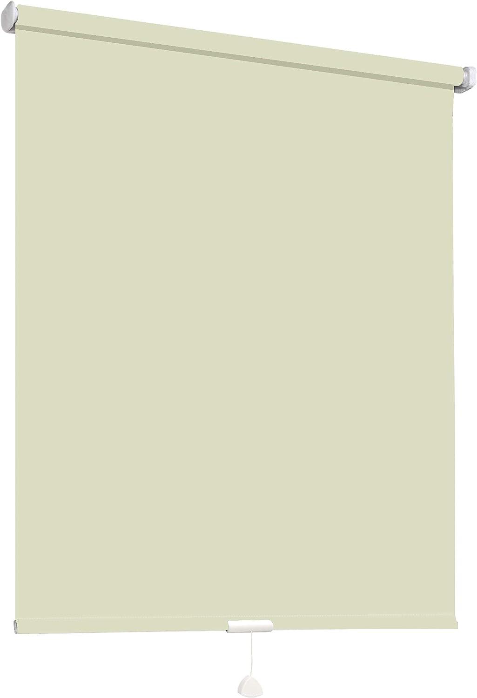 Springrollo Mittelzugrollo Schnapprollo Fenster Rollo Vorhang 16 Farben Breite 62-242 cm Hhe 160 und 230 cm blickdicht lichtdurchlssig Sonnenschutz Sichtschutz Blendschutz (172 x 230 cm Natur)
