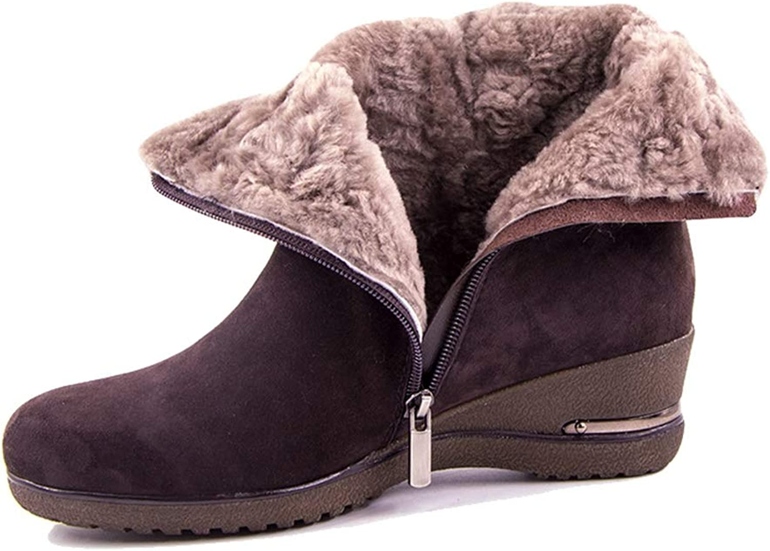 Kyle Walsh Pa Women New Winter Sheep Suede Wool Fur Plush Winter Genuine Leather Footwear Ankle Boots