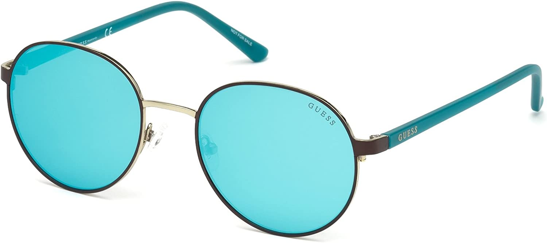 Amazon.com: GUESS Gu3027 Round Sunglasses, Matte Blue & Gradient Blue, 52  mm: Clothing