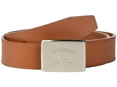 Lacoste Retro Big Croc Buckle Belt (White/Patisson/Woodpecker) Men
