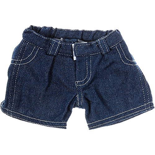 Blue Jean Shorts Teddy Bear Clothes Fit 14 - 18 Build-a-bear, Vermont Teddy Bears, and Make Your Own Stuffed Animals by Bear Factory