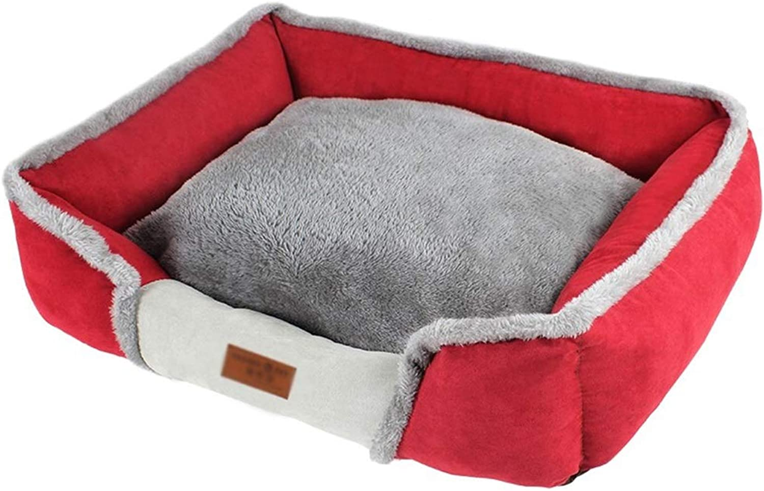 66ccwwww Pet bed Pet nest, kennel cat litter kennel small medium and large dog dog mat dog bed dog house dog cat pet (color   RED, Size   Xl)