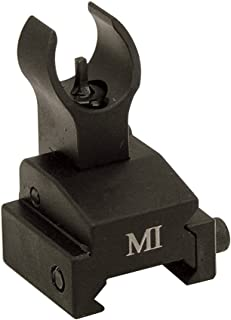 Midwest Industries Flip-Up Front Sight Gas Block, Rail Mounted Black