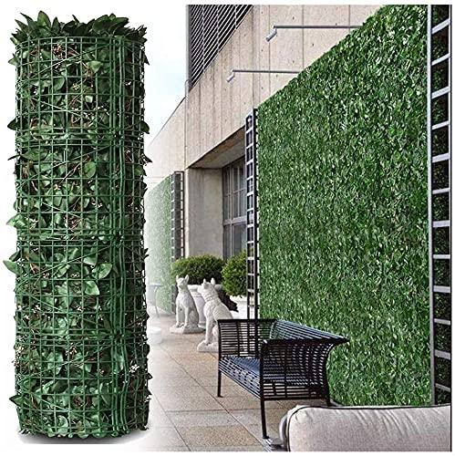 BAITUB Celosias para Jardin con Hojas Cercas Decorativas de Pared de Plantas Artificiales, Pantalla de jardín, decoración de terraza, Valla de privacidad de balcón denso Transpirable Artificial Ocu