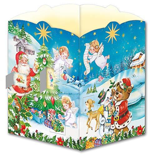 Trötsch Postkarte zum Aufstellen Windlicht-Adventskalender Nostalgisch: Karte Weihnachtskarte