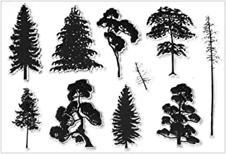 Pine Tree Bamboo Transparent Clear Silicone Stamps Seal for DIY Scrapbooking Handmade Album Decoration Photo DIY Card Making (Style 1)