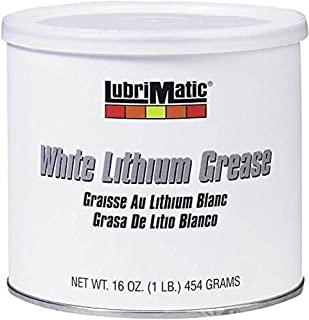 Plews-Edelmann 11350 Lubrimatic Lithium Grease, 16 oz Can, White,Pack of 1