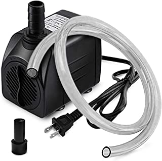 Best PULACO 10W 160GPH Submersible Pump with 3.3 ft Tubing for Aquariums, Fish Tank, Pond Fountain, Statuary, Hydroponics, Water Feature, Indoor Fountains Review