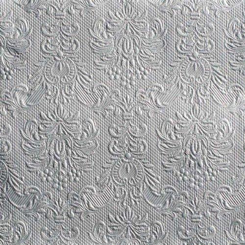 Ambiente Servietten Lunch / Party 33x33cm Elegance Silber - Silver Geprägt / embossed