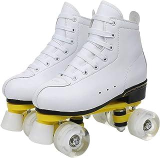 Rolschaatsen Dames,Rolschaatsen Volwassenen,Rolschaatsen Meisjes Verstelbaar,Inlineskates Heren,Schoenen met Wielen,Quad S...