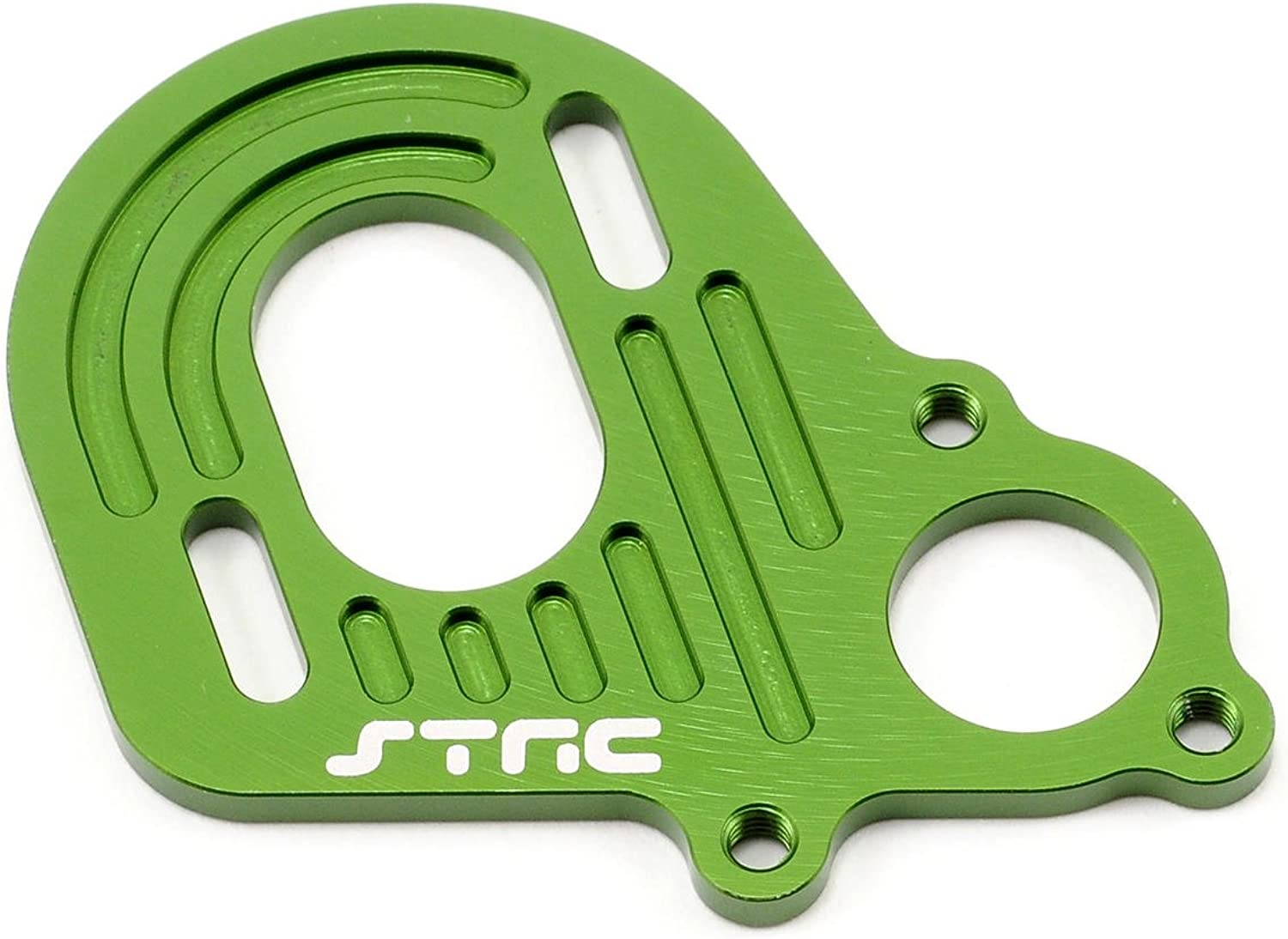 ST Racing Concepts STA30491G Aluminum Motor Plate with Longer Motor Screw Slots for The Axial Wraith, Green