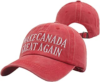 WHAT-MM Adult Vintage Make Canada Great Again Hat Dad Hat Baseball Cap …