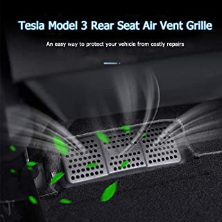 Farmogo Tesla Model 3 seat air vent cover grille air conditioner vent protector under front seat (2 PCS)