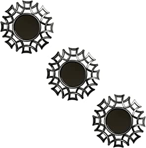 77 Rising Small Decorative Mirror for Wall Decor Set of 3. Used for Living Room Decor, Room Decor, Dining Room Decor and Corridor Decor.