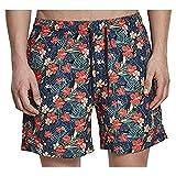 Urban Classics PatternSwim Shorts Bañador, Multicolor (Blk/Tropical 02061), XXX-Large para Hombre