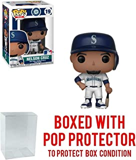 POP! Sports MLB Seattle Mariners Nelson Cruz Action Figure (Bundled with Pop Box Protector to Protect Display Box)