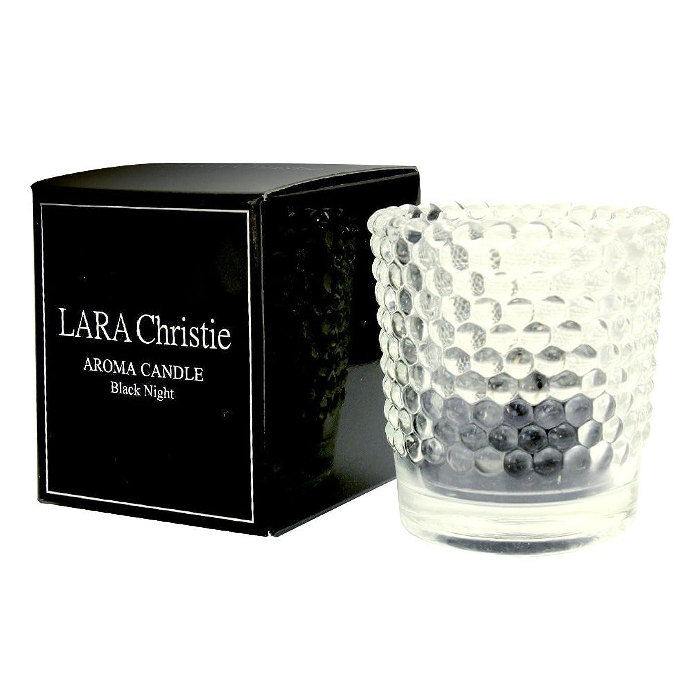 信頼ピン属する[ララクリスティー] LARA Christie ブラックナイト アロマキャンドル [ BLACK Label ] a0011-b