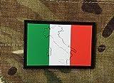 Parche de PVC Airsoft Diseño Bandera Italiana/Grabado Mapa de Italia