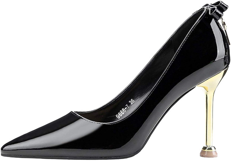 HANBINGPO Pointed Shallow Mouth Rhinestone High Heels Nightclub Sexy Key Single shoes Temperament Elegant