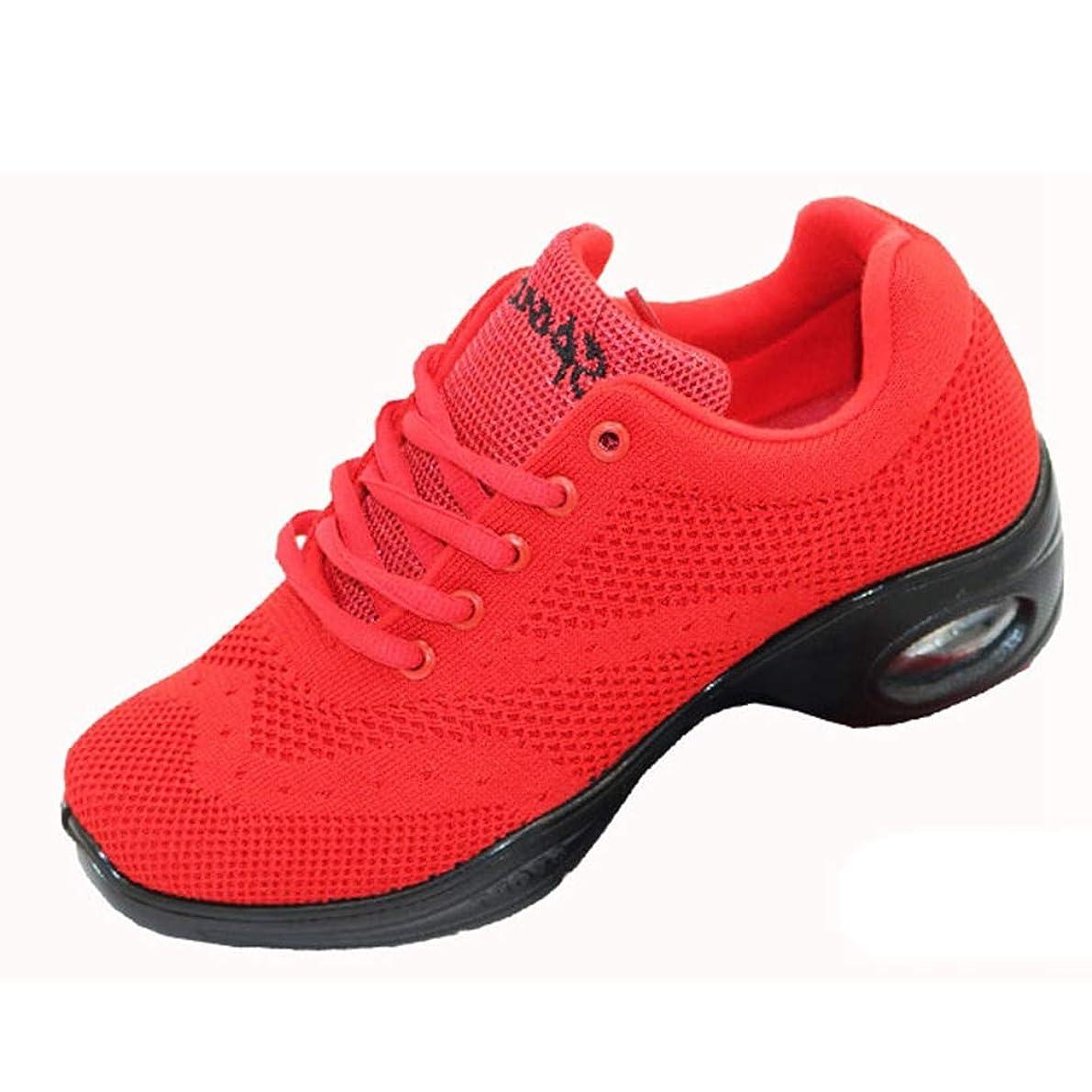 水差し浮くかる[AcMeer] スポーツシューズ レディース メッシュ スニーカー ランニングシューズ 厚底靴 運動靴 大人 学生 デイリー 通学靴 通勤靴 レースアップ 軽量 柔軟性 ウォーキング クッション性 赤 黒