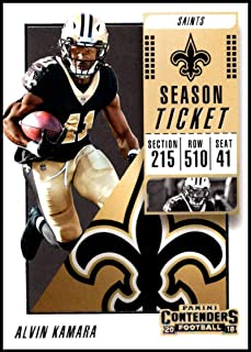 2018 Contenders NFL Season Ticket (Base) #35 Alvin Kamara New Orleans Saints Official Football Trading Card made by Panini
