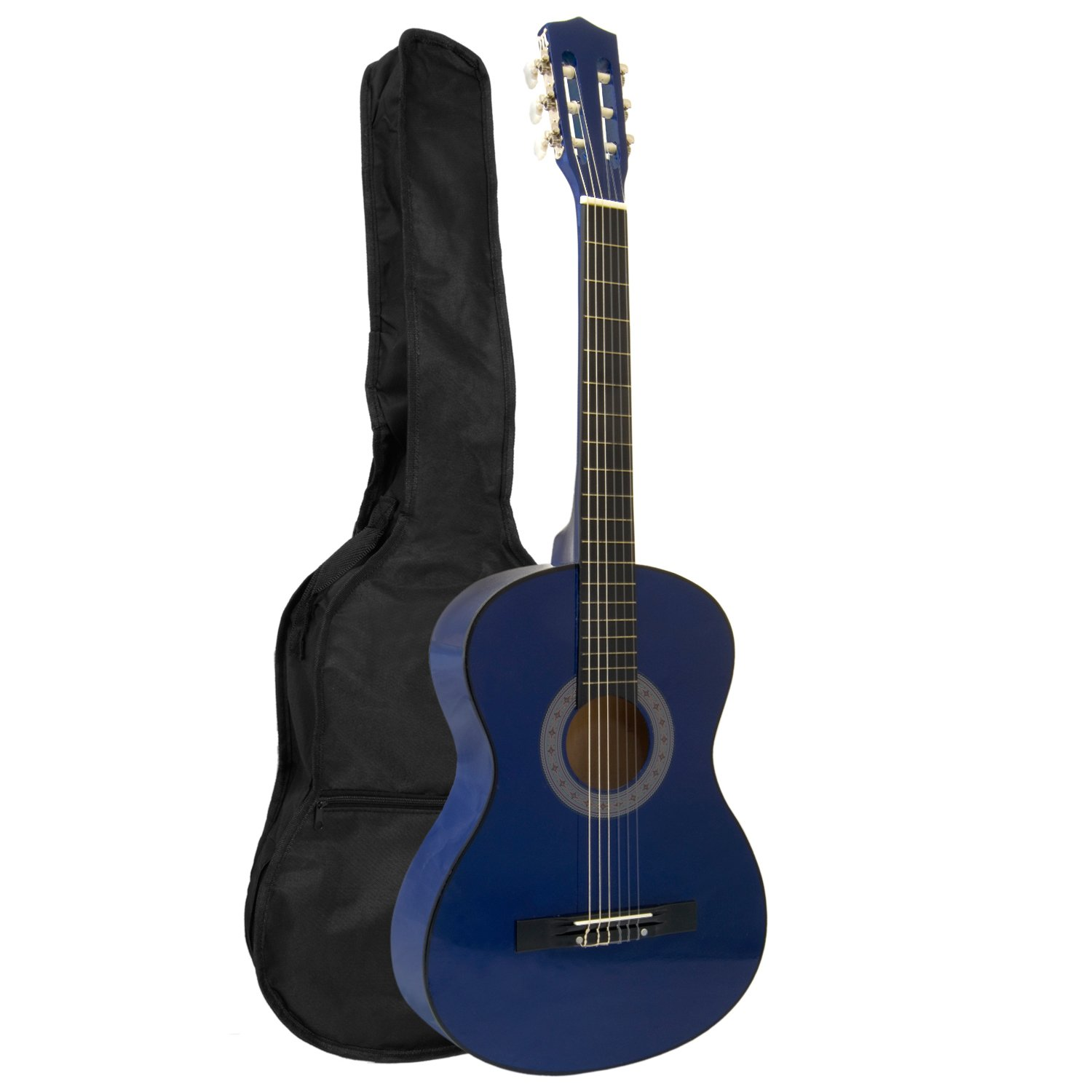 Tiger CLG4-BL - Set de guitarra clásica de 3/4, color azul: Amazon ...
