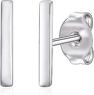 Best sterling silver bar stud earrings Reviews
