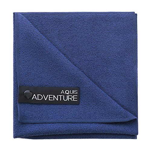 AQUIS - Adventure Microfiber Sports Towel, Quick-Drying Comfort for Running, Racquet Sports or Golf, Blueberry (Medium/15 x 29 Inches)