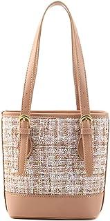 Shoulder Bags Simple fashion handbag Bucket bag White