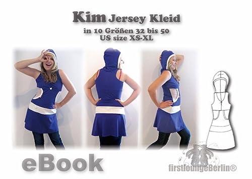 Kim Nähanleitung mit Schnittmuster für Jerseykleid in Gr. 32-50 Kapuzen-Kleid [Download]