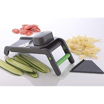 ASPERIA Potato Slicer for Chips Vegetable & Fruit Cutter Slicer,Chipser for Chips Vegetable, Vegetable Slicer for Kitchen, Slicer Vegetable Cutter, Grater and Slicer, Vegetables Cutter for Kitchen