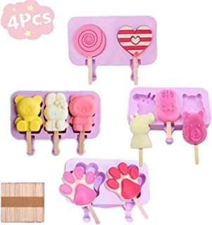 Silicone Popsicle Mold Cavities Ice Pop Mold, Reusable Popsicle Molds, Kitchen Tools Accessorie