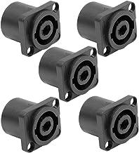Seismic Audio - SAPT240-5Pack - 5 Pack of 4 Pole Speakon Panel Mount Connectors - Black - Fits Series D Pattern Holes Pro Audio