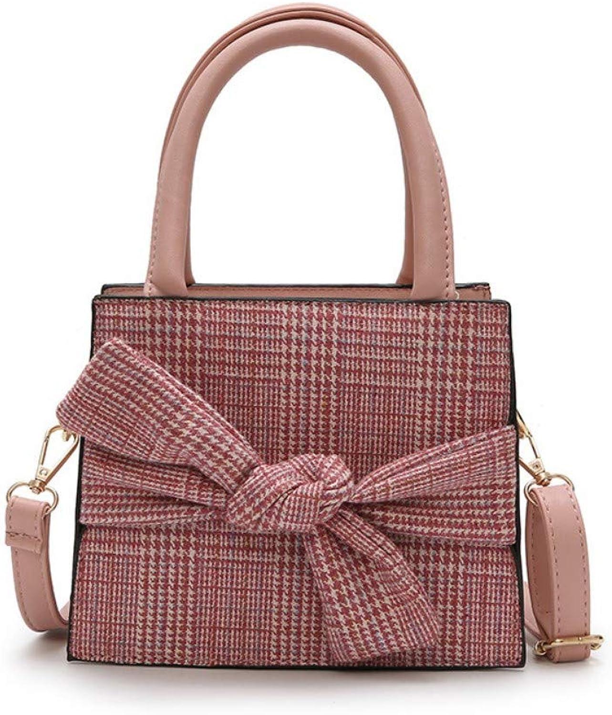 MSFANGDAN Umhängetasche Frauen Mode Plaid Plaid Plaid Bow Handtasche Schultertasche Damen Vintage Messenger Bags Neue Freizeitaktivitäten Einfache Quadratische Top-Handle Tasche B07PB5KSGL  Klassisch 593453