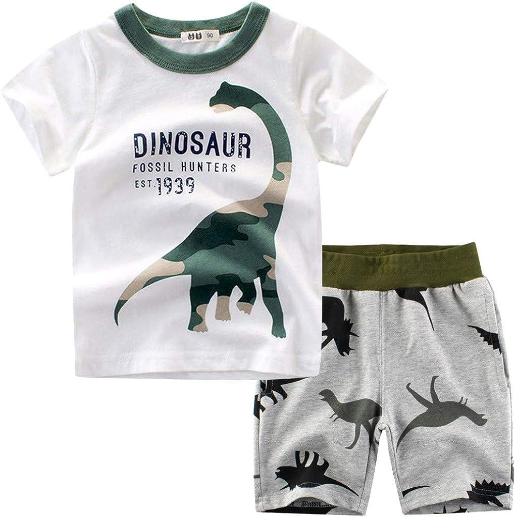 Newest  Kids Boys Cartoon T-shirts Tops Costume tshirts Shorts Set